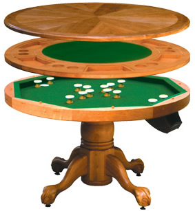 Check Out The Combination Bumper Pool/poker Table/dining Table